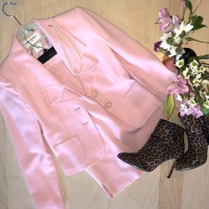VINTAGE Morabito Paris Pink Skirt Suit